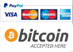 Accepted payment methods: PayPal, BitCoin