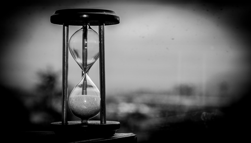 Hourglass representing time