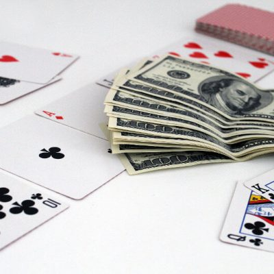 poker cards and us dollars